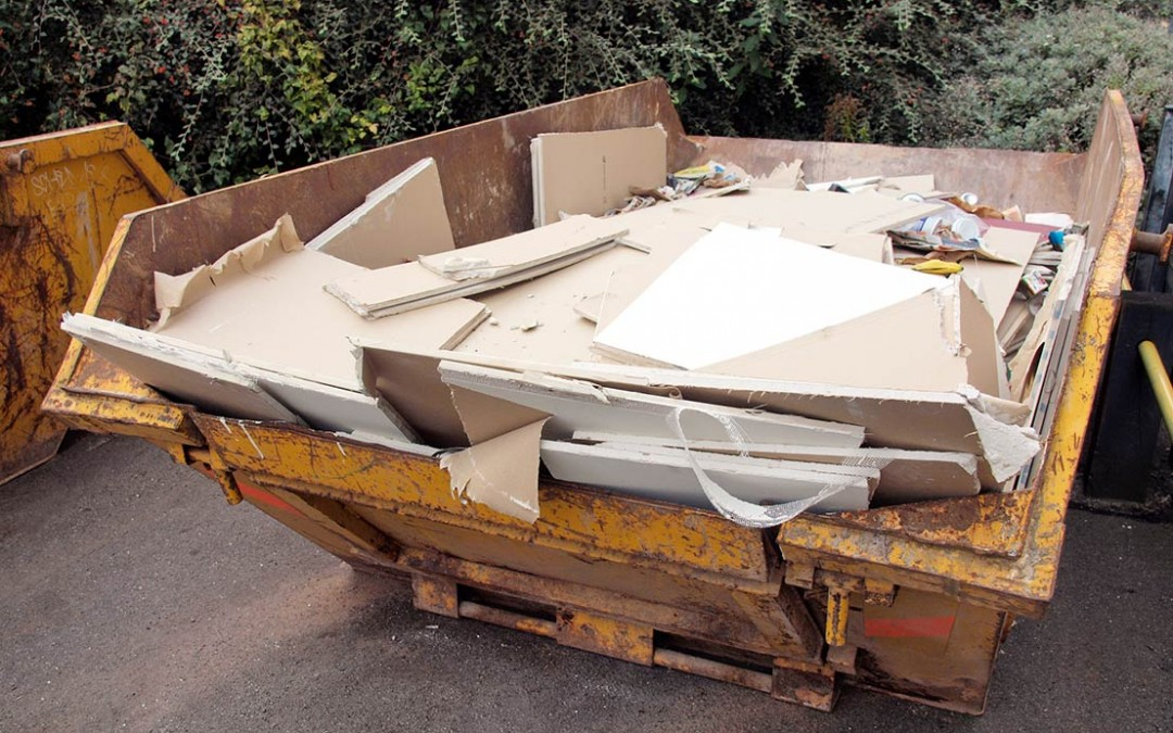 Why can't you put plasterboard in a skip?